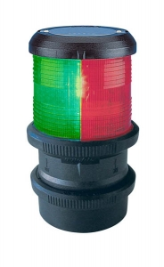 Aquasignal 40 3farvet Sort 12V snabkobl.