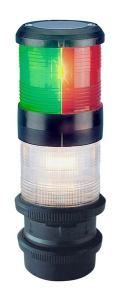Aquasignal 40 anker/3farvet Sort 12V snapkobl.