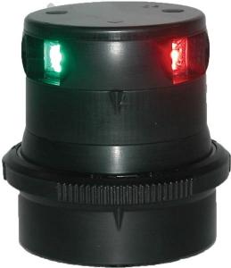 Aquasignal 34 3farvet Sort 12V/24V