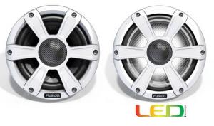 Fusion 7.7 Højtaler m. White grill + LED