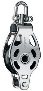 Harken ESP 75 mm Enkeltblok m. hundsvot, RF stål
