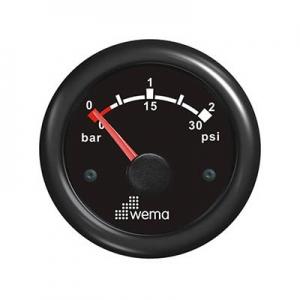 Wema Turbotryk instrument 0-2 barr Sort
