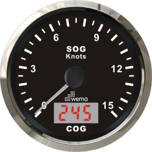 Wema Spedometer 15 kn SORT RF