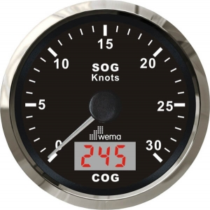Wema Spedometer 30 kn SORT RF